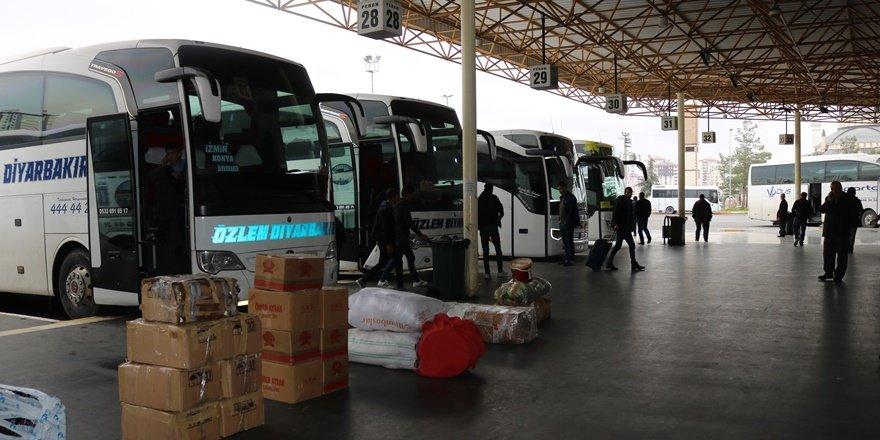 Diyarbakır şehirlerarası otogarında son seferler