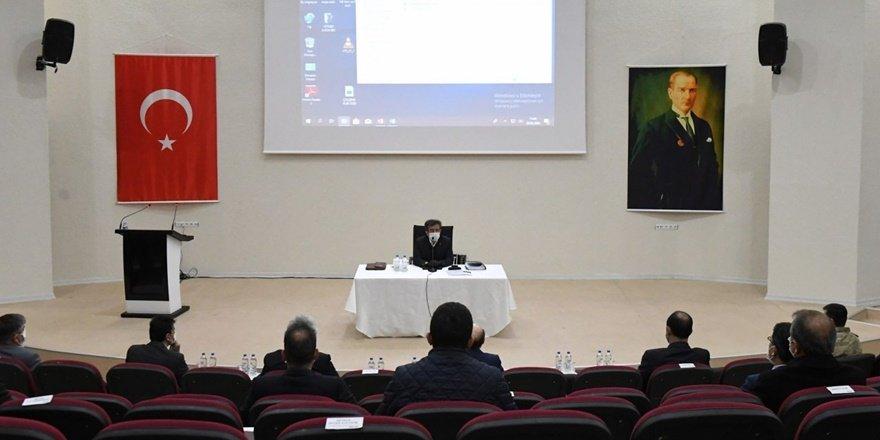 Vali Güzeloğlu başkanlığında Pandemi Kurulu Toplantısı