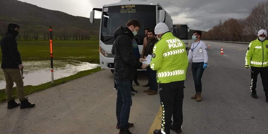 Otobüs sürücülerine koronavirüs cezası