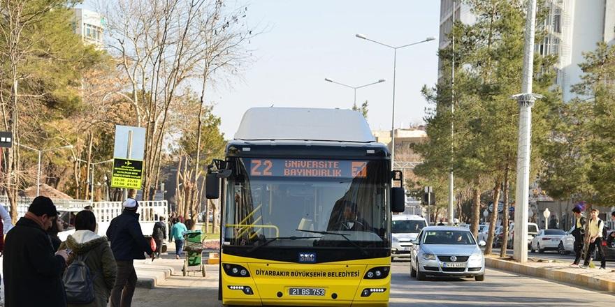 Diyarbakır'da toplu ulaşım ücretsiz