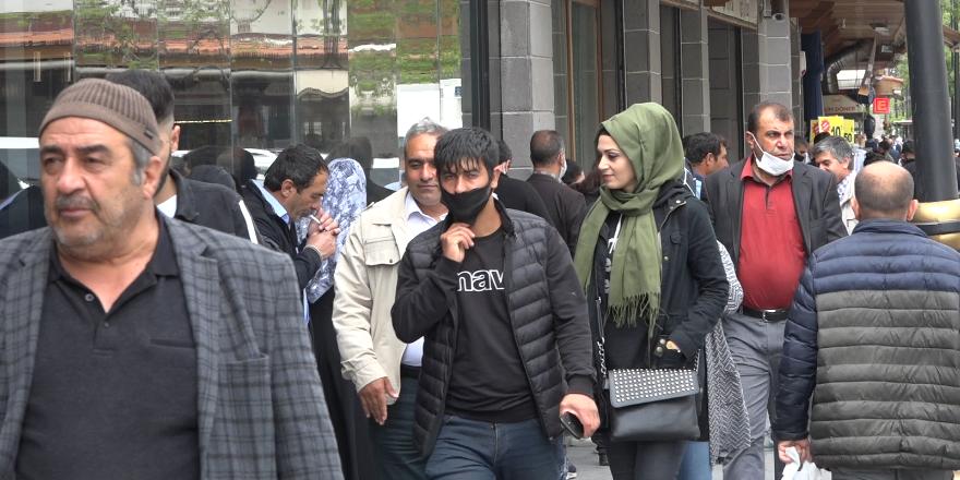 VİDEO-Diyarbakır'da yasak bitti çarşı pazar hareketlendi