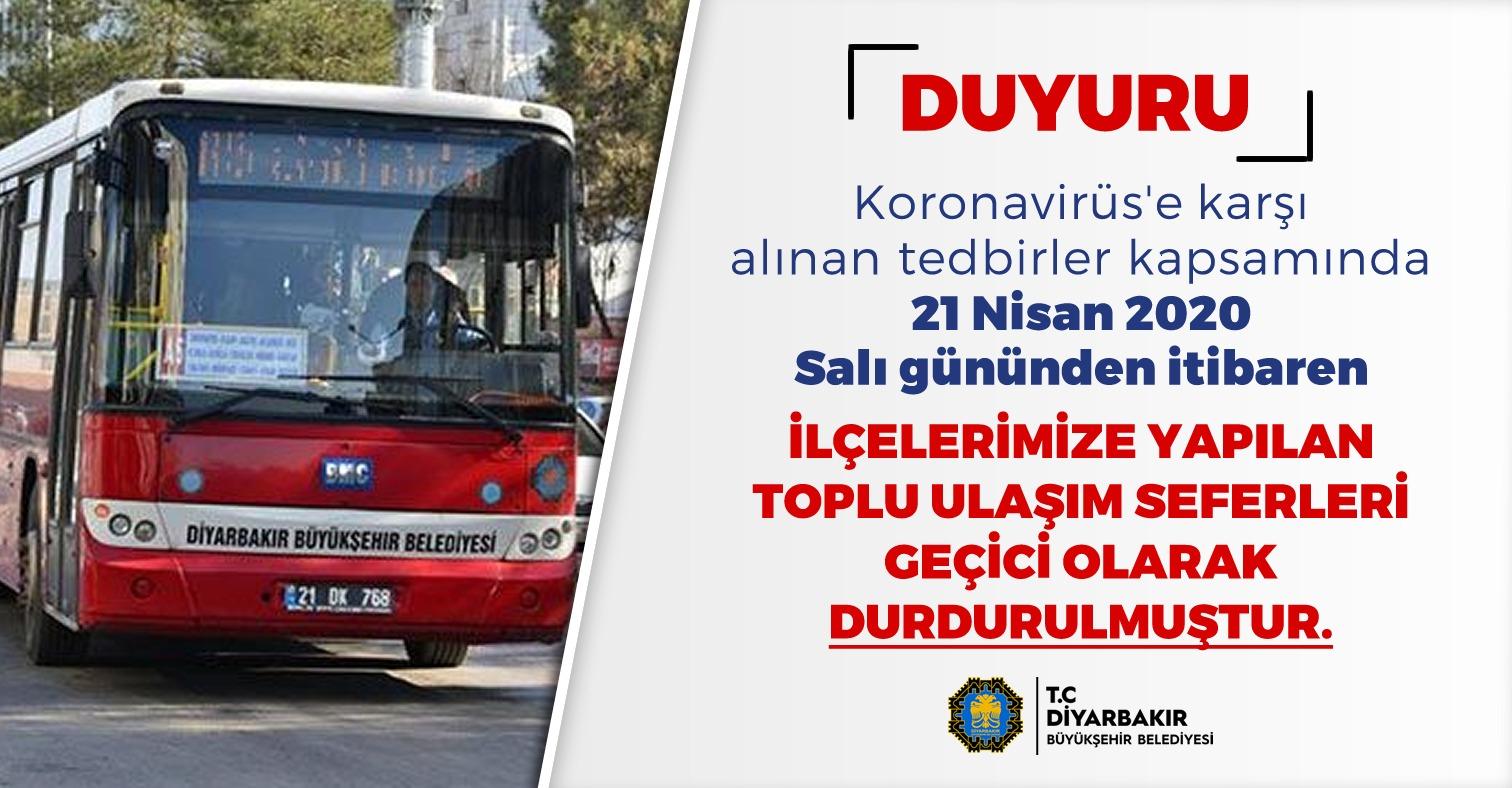 SON DAKİKA...Diyarbakır'da ilçelere ulaşım durduruldu