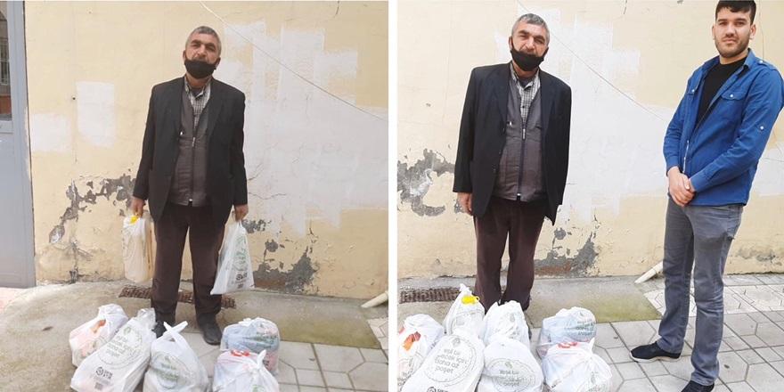 'Vatansız Ahmet'e gıda ve nakdi yardım ulaştırıldı