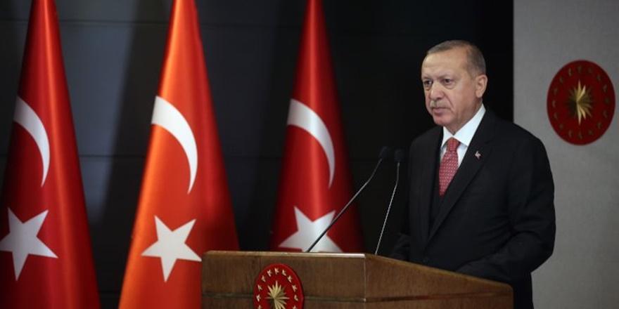 Erdoğan'dan salgınla mücadelede kararlılık mesajı