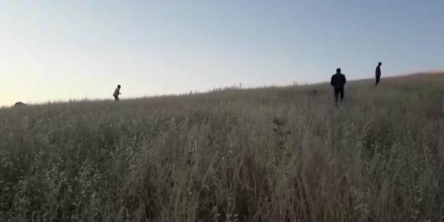 Diyarbakır'da köylüler tarlada gök taşı aradı