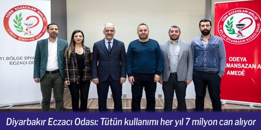 Diyarbakır Eczacı Odası: Tütün kullanımı her yıl 7 milyon can alıyor
