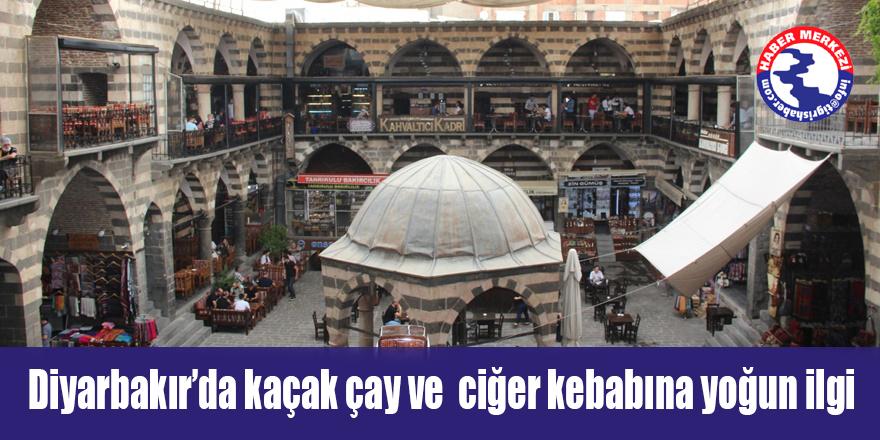 VİDEO - Diyarbakır'da kaçak çay ve ciğer kebabına yoğun ilgi