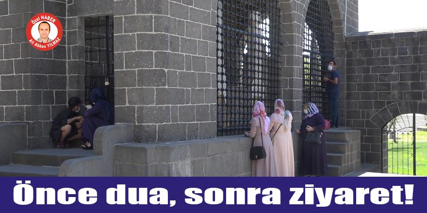 VİDEO - Diyarbakır'daki Hz. Süleyman Cami ve türbesi 3 ay sonra ziyarete açıldı