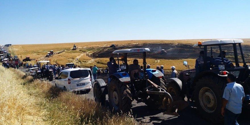Diyarbakır'da 50 dönüm ekili arazi kül oldu