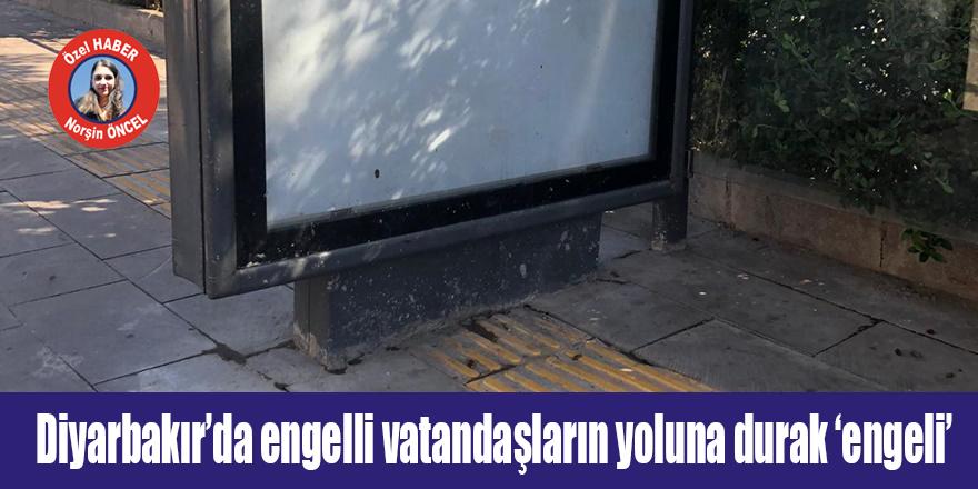 Diyarbakır'da engelli vatandaşların yoluna durak 'engeli'