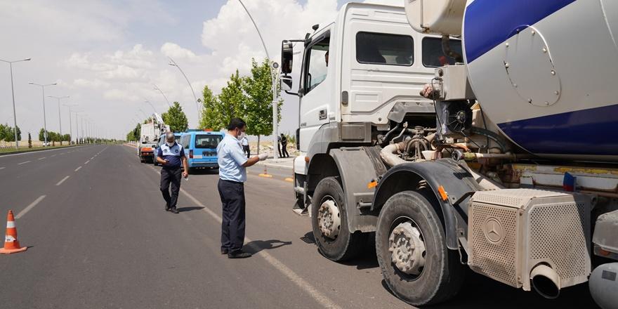 Diyarbakır'da ağır tonajlı araçlara denetim