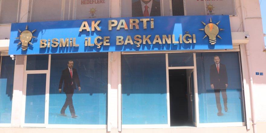 AK Parti Bismil İlçe Başkanlığına molotofkokteyli saldırı