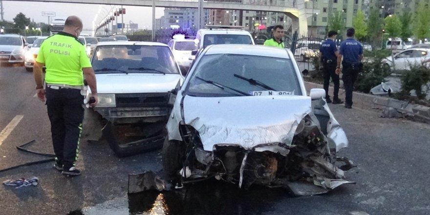 Diyarbakır'da trafik magandası kazaya sebep oldu