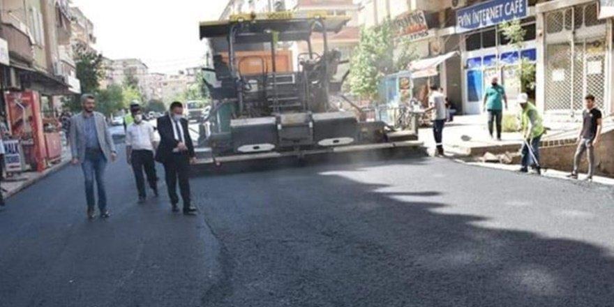 Bağlar caddeleri asfalt ve parke çalışması
