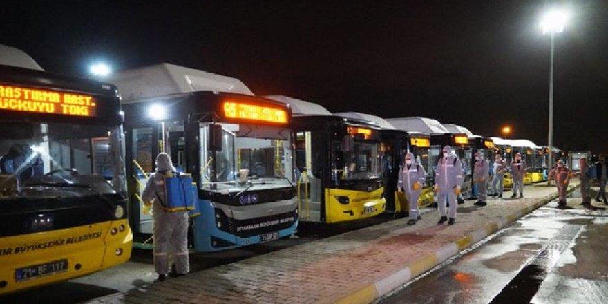 Diyarbakır'ın ilçelerine otobüs seferleri yeniden başlıyor