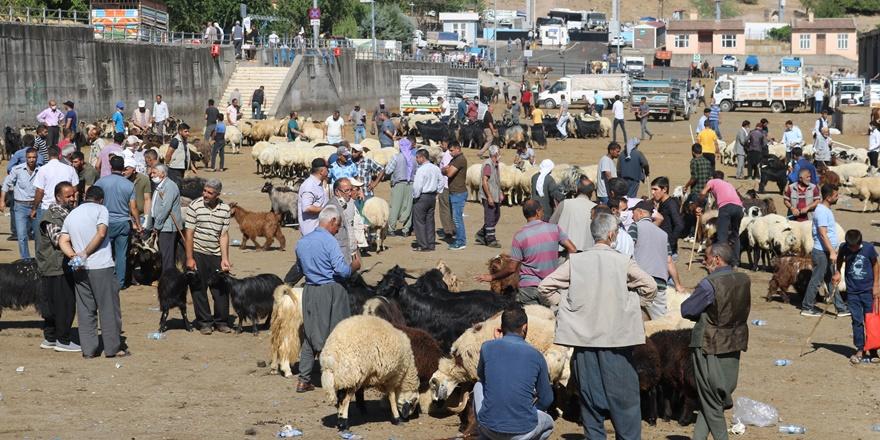 Diyarbakır kurbanlık pazarında 'korona pazarlığı'