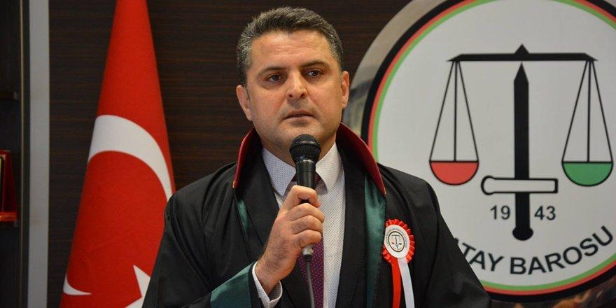 Hatay Barosu Başkanı Dönmez'e 72 barodan destek