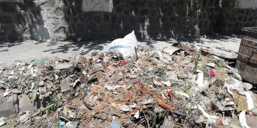 Kayapınar'da biriken çöpler toplanmayı bekliyor!