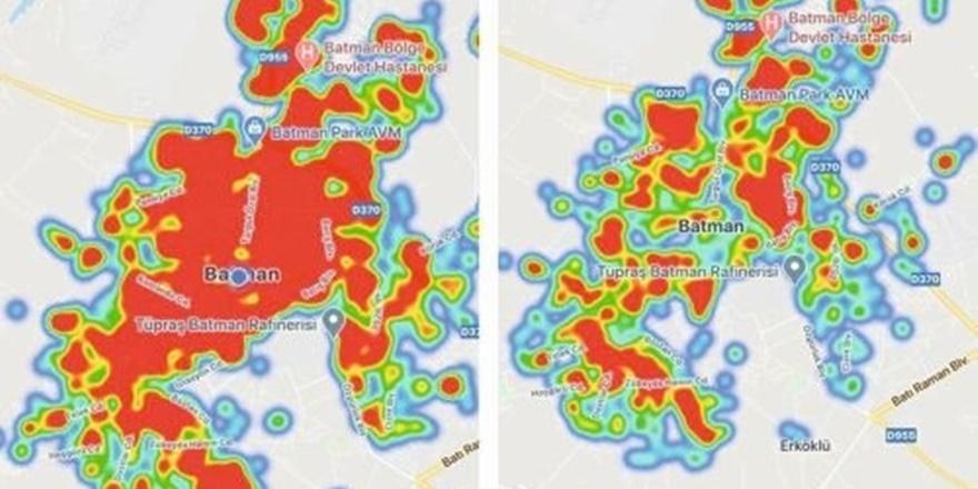Korona haritası kırmızıya döndü