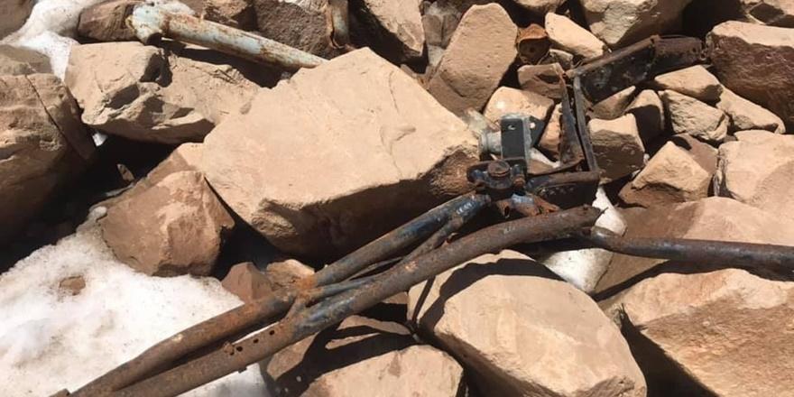 Düşen uçağın parçalarına 61 yıl sonra rastlandı