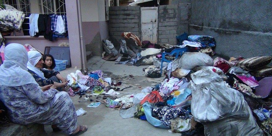 Çınar'da evi yanan aile, yardım bekliyor