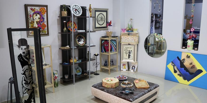 Diyarbakır'da çöpe atılan ürünler sanat eserine dönüştürülüyor