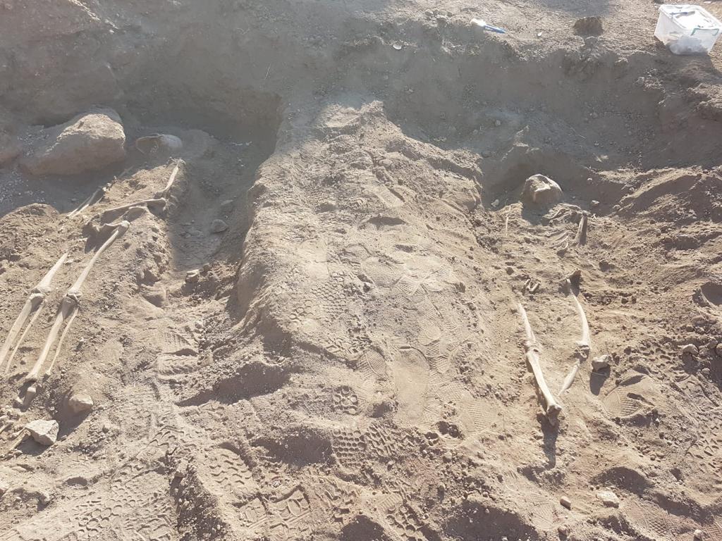 Diyarbakır'da Yedikardeş Burcu'nda 3 insan iskeleti bulundu