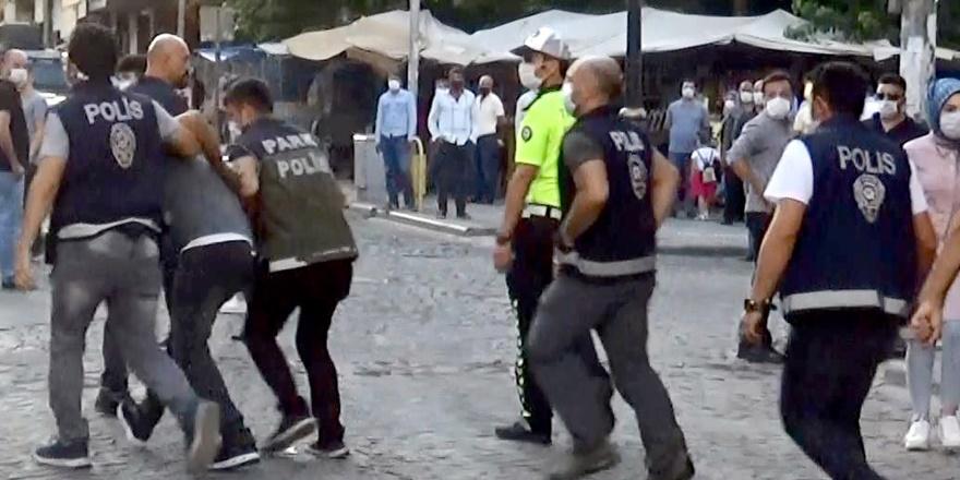 Diyarbakır'da zabıtalara saldıran seyyar satıcılara gözaltı