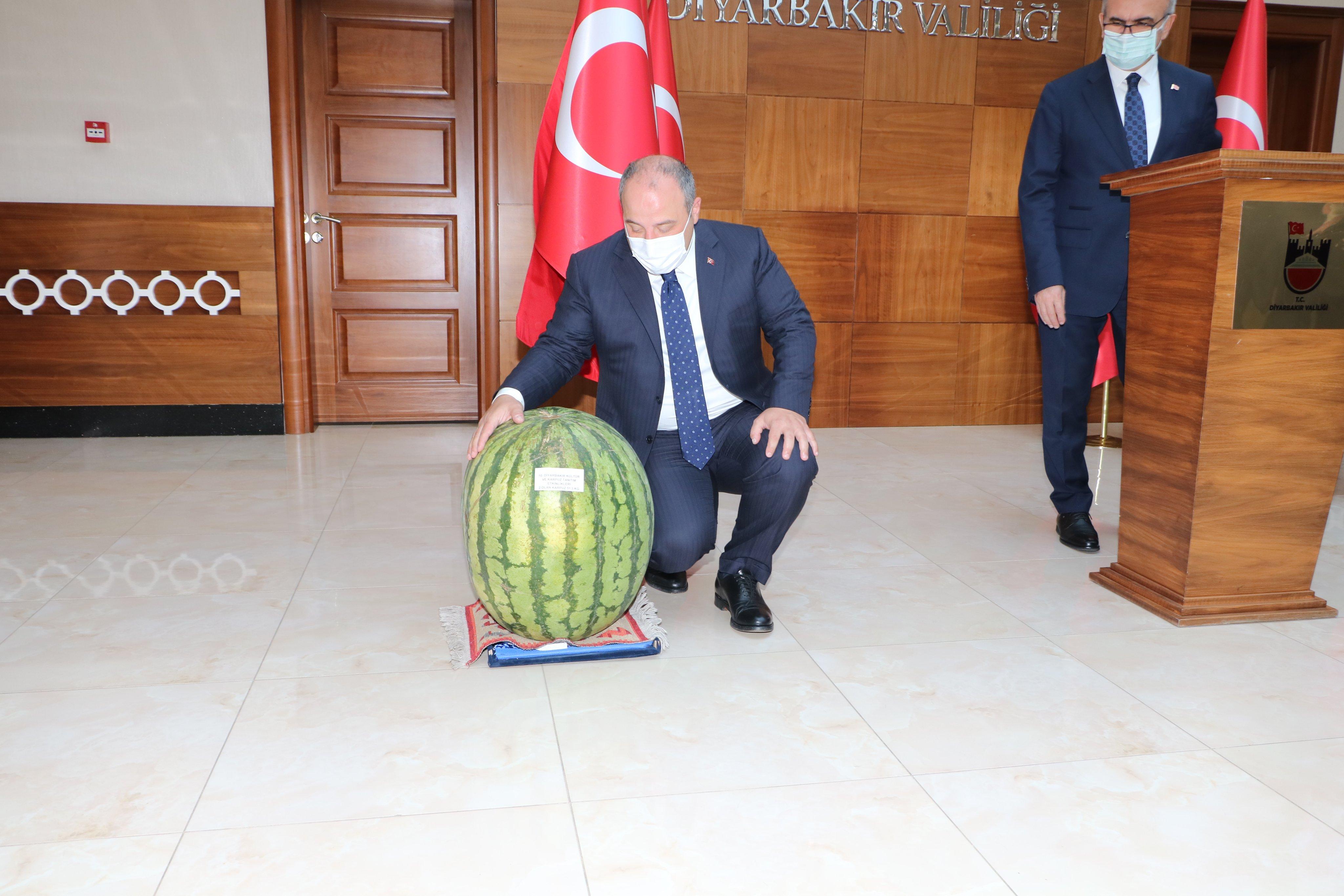 Bakan Varank Diyarbakır karpuzuna hayran kaldı