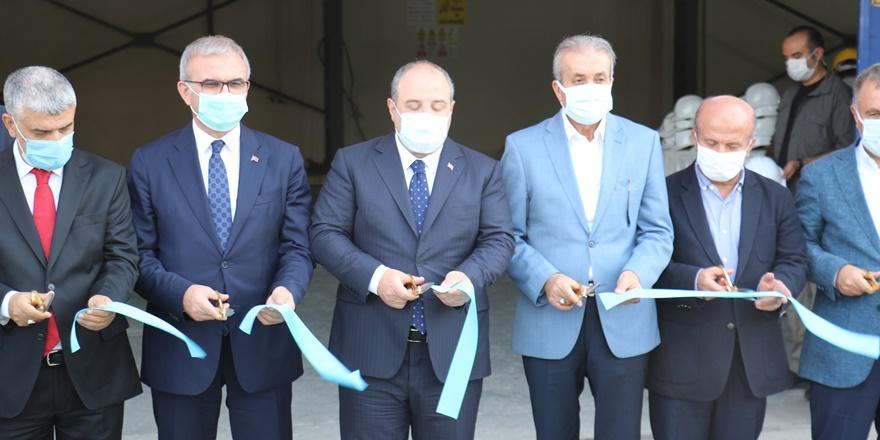Bakan Varank Lice'de  mermer fabrikasının açılışını gerçekleştirdi