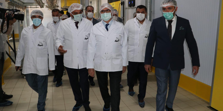 Vali Karaloğlu, Tarıma Dayalı İhtisas Besi OSB'de inceleme yaptı