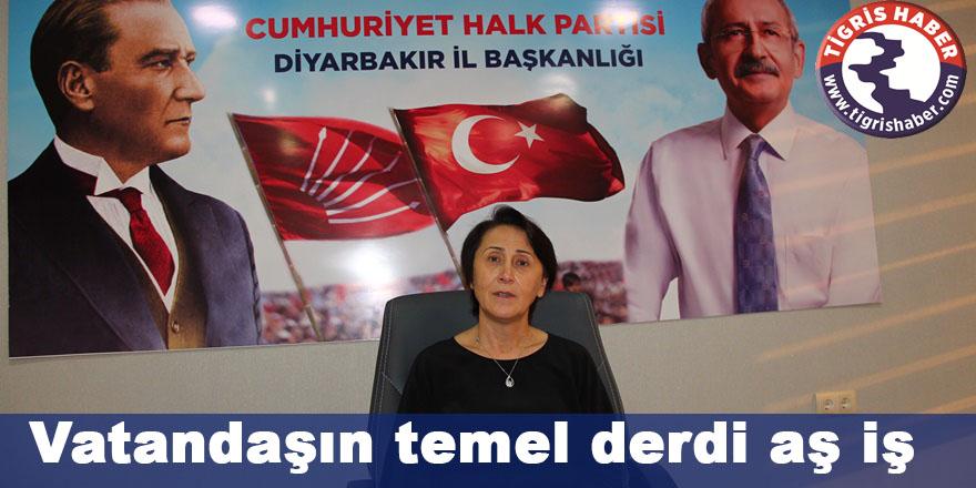CHP Diyarbakır İl Başkanı Özel: Vatandaşın temel derdi aş iş