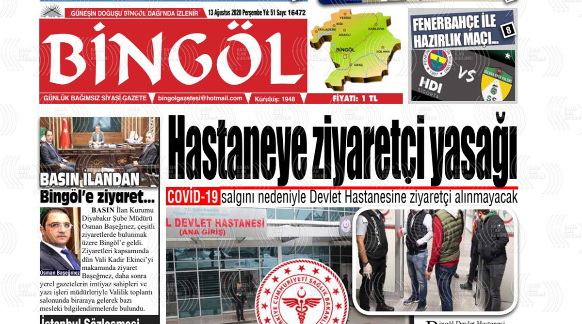 Bingöl'de 9 gazete birleşti, darısı Diyarbakır'ın başına