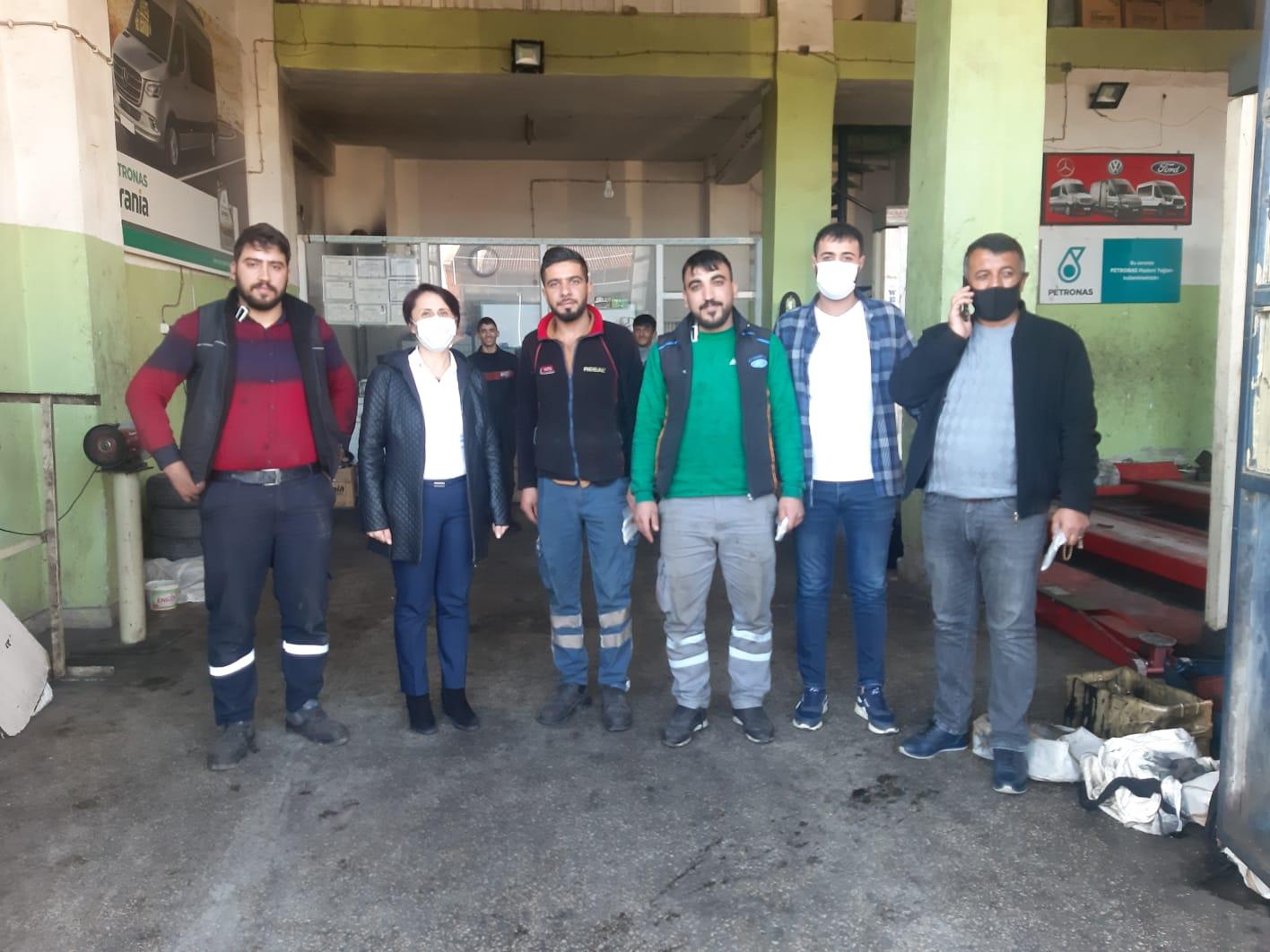 CHP'li başkandan sanayi esnafına ziyaret