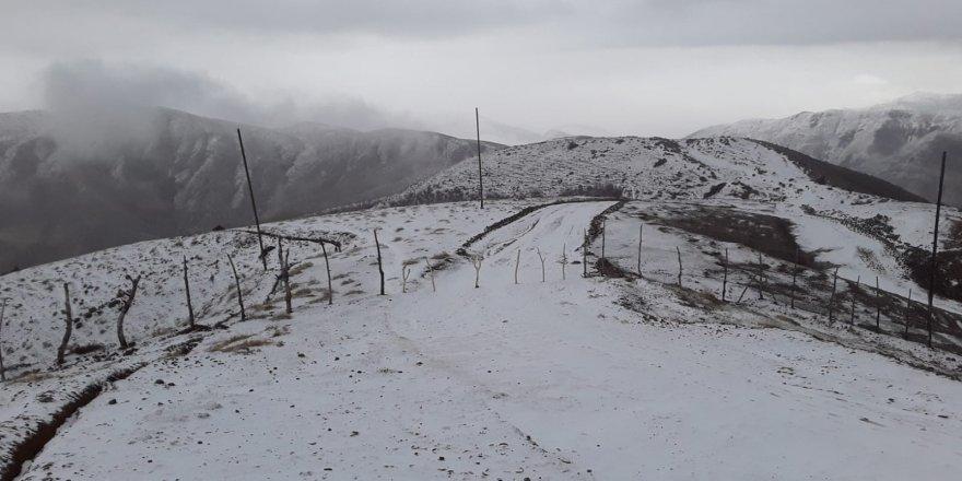 Batman'da mevsimin ilk karı köyleri beyaza bürüdü