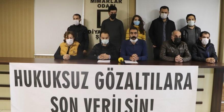 TMMOB Diyarbakır İKK: Hukuksuz gözaltılara son verilsin