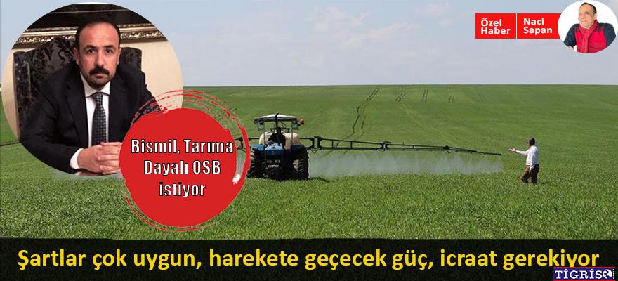 Bismil, Tarıma Dayalı OSB istiyor