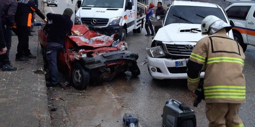 Dersim-Elazığ karayolunda trafik kazası: 2 ölü, 1 yaralı