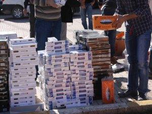 Elazığ'da gümrük kaçağı 14 Bin 520 paket sigara ele geçirildi