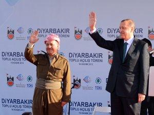Başbakan Erdoğan, Barzani ile Birlikte Miting Alanında