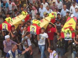 6 YPG'li son yolculuğuna uğurlanıyor