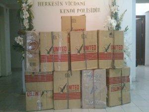 Şanlıurfa'da 12 bin 420 paket kaçak sigara ele geçirildi