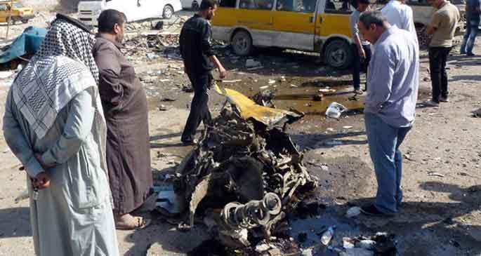 Irak'ta kanlı pazar!