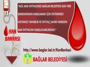 Bağlar Belediyesi 'Kan Bankası'nı kurdu