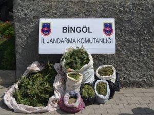 Bingöl'de 27 buçuk kilo esrar ele geçirildi