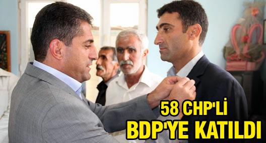 Mazıdağı'nda 58 CHP'li BDP'ye katıldı