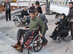 Urfa'da engellilere belediye engeli