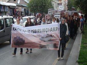 DBP ve HDP'den 'IŞİD' protestosu