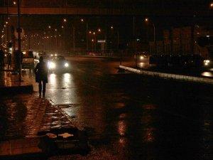 Diyarbakır'da karla karışık yağmur...