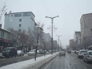 Muş'ta kar yağışıyla birlikte meşhur karakışı da başladı…